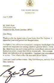 Presidential letter honoring law enforcement officials book